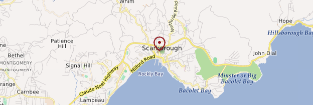 Carte Scarborough - Trinité-et-Tobago
