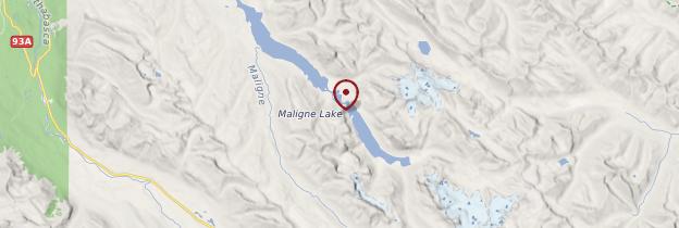 Carte Maligne Lake - Canada