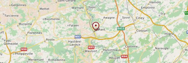 Carte Belgique Dinant Environs.Dinant Province De Namur Guide Et Photos Belgique