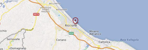 Carte Riccione - Italie