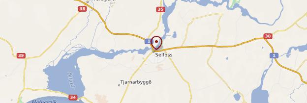 Carte Selfoss - Islande
