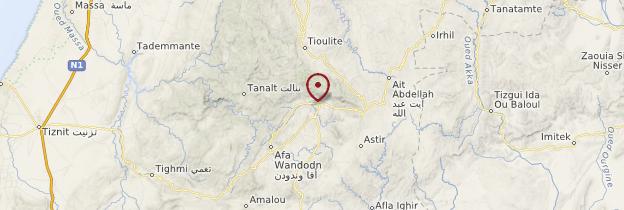 Carte Gorges d'Aït-Mansour - Maroc