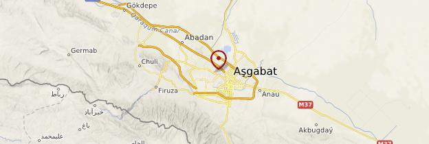 Carte Ashgabat - Turkménistan