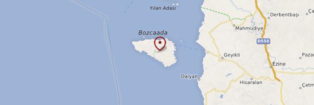Carte Bozcaada - Turquie