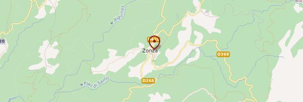 Carte Zonza - Corse