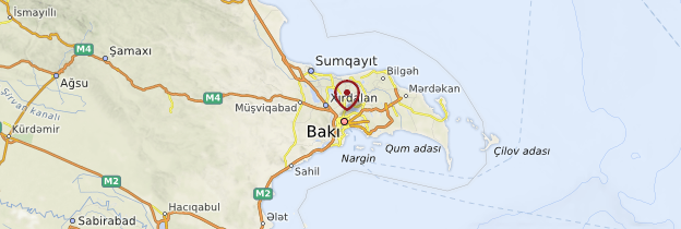 Carte Bakou - Azerbaïdjan