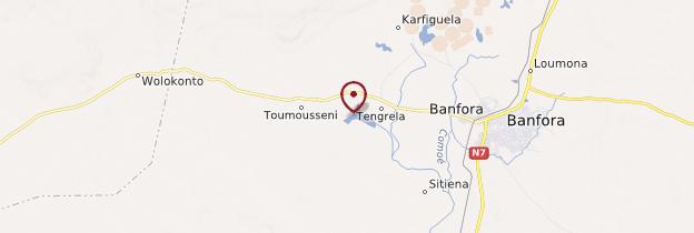 Carte Lac de Tingrela - Burkina Faso