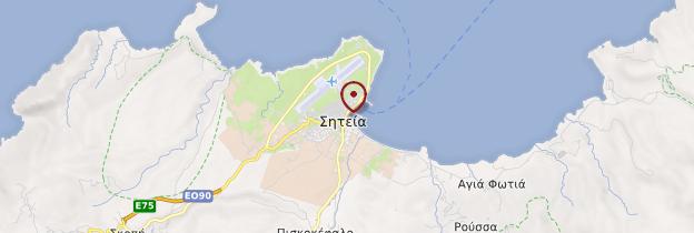 Carte Sitia - Crète