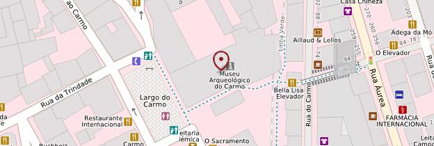Carte Convento-museu do Carmo - Lisbonne