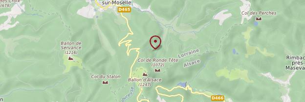 Carte Ballon d'Alsace - Lorraine