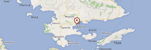 Carte Ermioni - Grèce
