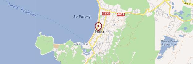 Carte Patong Beach - Thaïlande