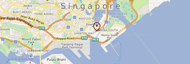 Carte Marina Bay - Singapour