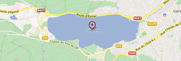 Carte Lac de Gérardmer - Lorraine