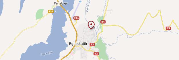 Carte Egilsstaðir - Islande