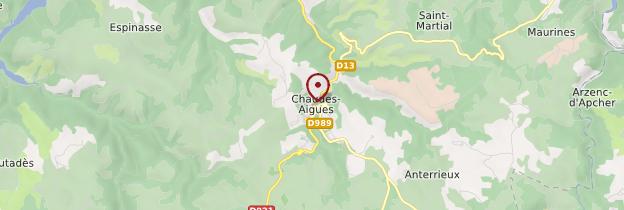 Carte Chaudes-Aigues - Auvergne