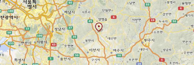 Carte Gyeonggi-Do - Corée du Sud