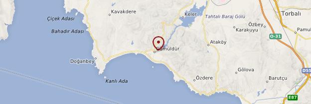 Carte Gümüldür - Turquie