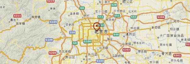 Carte Environs de Pékin - Chine