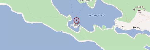 Carte Île de Sveta Marija - Croatie