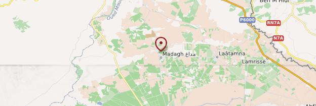Carte Madagh - Algérie