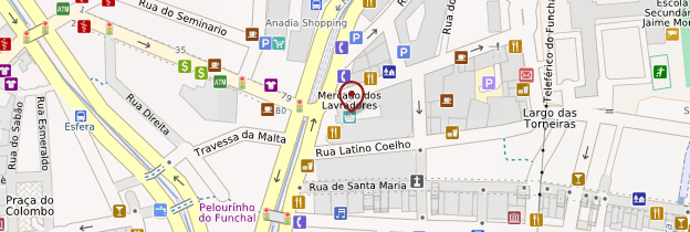 Carte Mercado dos Lavradores - Madère
