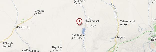 Carte Lalla-Takerkoust - Maroc
