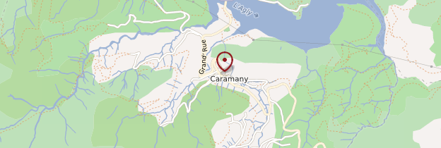 Carte Caramany - Languedoc-Roussillon