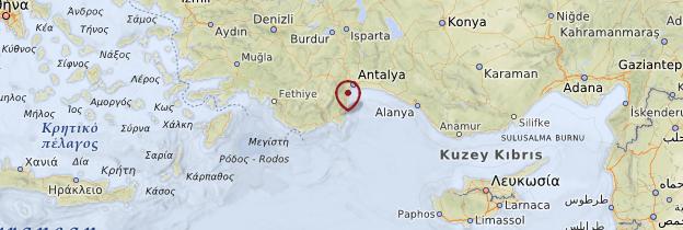 Carte Olympos - Turquie