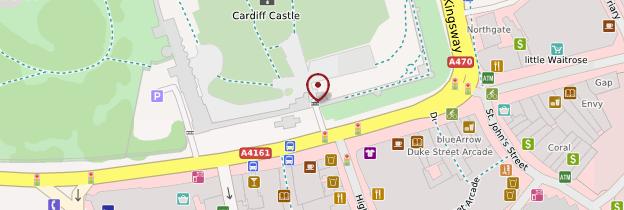 Carte Château de Cardiff - Pays de Galles