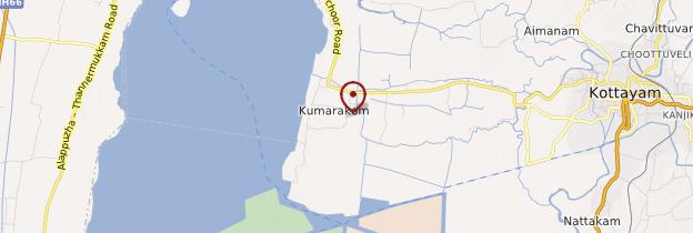 Carte Kumarakom - Kerala