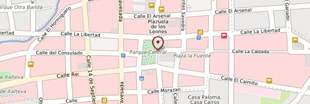 Carte Cathédrale de Granada - Nicaragua