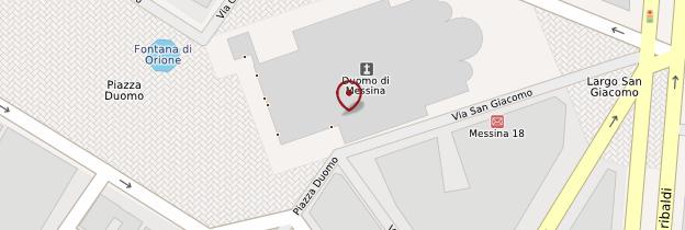 Carte Campanile de Messine - Sicile