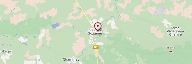 Carte Sainte-Suzanne - Pays de la Loire