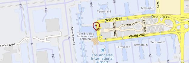 Carte Aéroport international de Los Angeles - Los Angeles