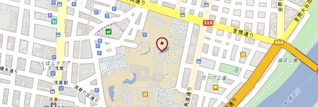 Carte Temple Senso-ji (Asakusa Kannon) - Tokyo
