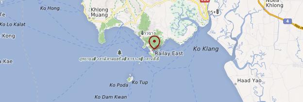 Carte Plages de Railay - Thaïlande