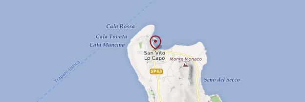 Carte San Vito lo Capo - Sicile