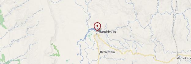 Carte Miandrivazo - Madagascar