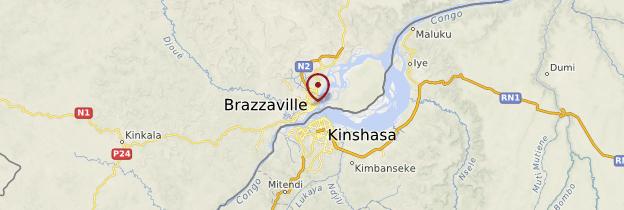 Carte Brazzaville - République du Congo