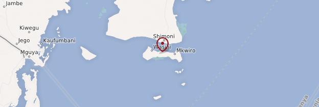 Carte Île de Wasini - Kenya
