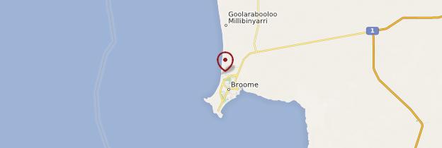 Carte Cable Beach - Australie