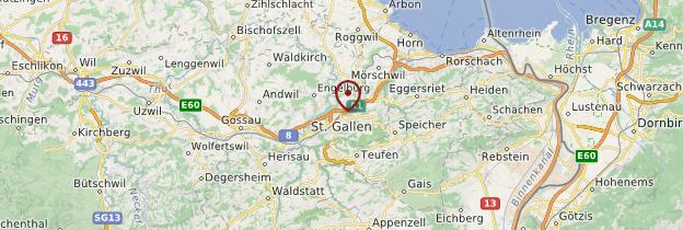 Carte Saint-Gall (Sankt Gallen) - Suisse