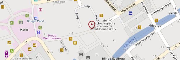 Carte Le Burg - Bruges