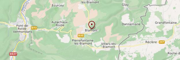 Carte Blamont - Franche-Comté