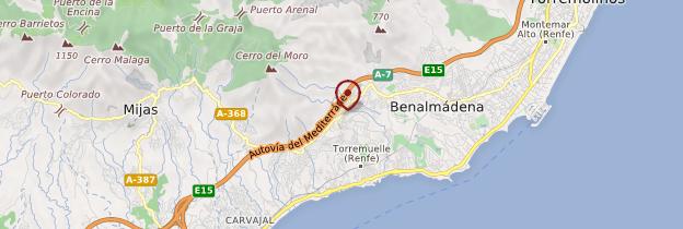 Carte Benalmádena - Andalousie