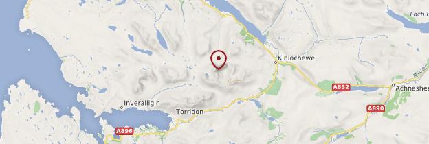 Carte Beinn Eighe - Écosse