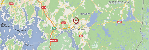 Carte Halden - Norvège