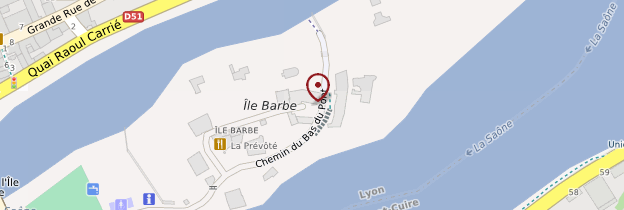 Carte Île Barbe - Lyon et ses environs