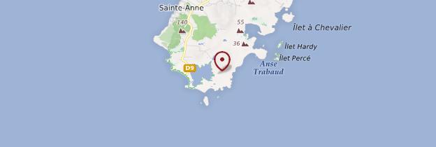 Carte Savane des Pétrifications - Martinique